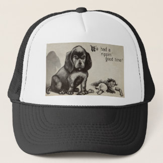 Unrepentant Pup and Demolished Doll Trucker Hat