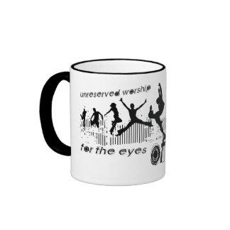 Unreserved Worship (for the eyes of God, not men) Ringer Coffee Mug