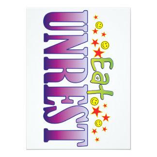 Unrest Eat 5.5x7.5 Paper Invitation Card