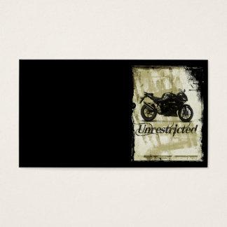 UNRESTRICTED GRUNGE MOTORCYCLE MOTORBIKE GANG MOTT BUSINESS CARD