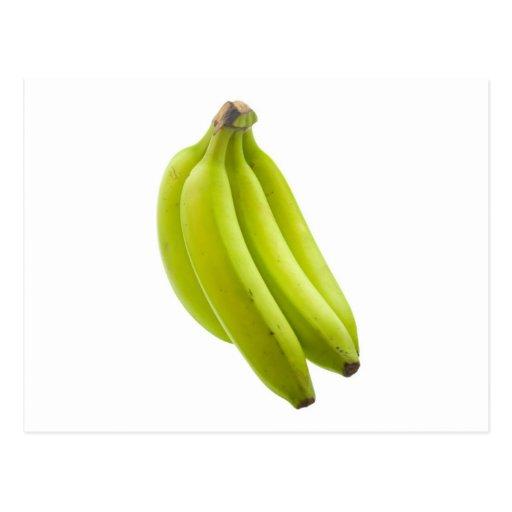Unripe banana postcard