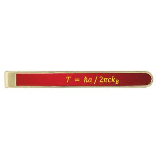 Unruh Temperature's tiepin Gold Finish Tie Bar