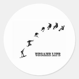 Unsame Life Snowboarder 360 Classic Round Sticker
