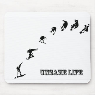 Unsame Life Snowboarder 360 Mouse Pad