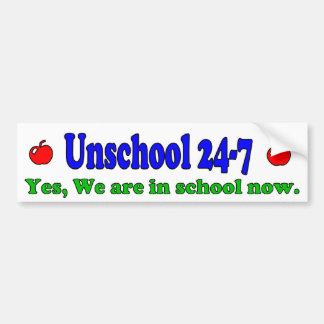 Unschool 24-7 Bumper Sticker