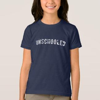 Unschooled Distressed Font T-Shirt