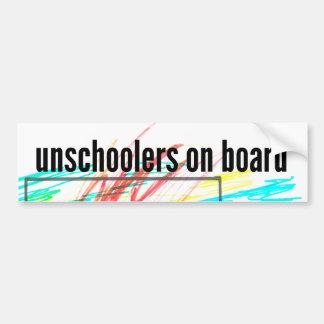Unschoolers a bordo pegatina para auto