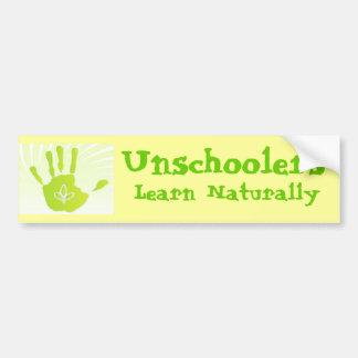 Unschoolers Learn Naturally Car Bumper Sticker