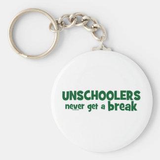 Unschoolers Never Get a Break Keychain