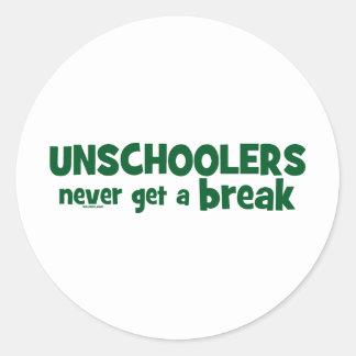 Unschoolers Never Get a Break Stickers