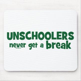 Unschoolers nunca consigue una rotura mouse pads