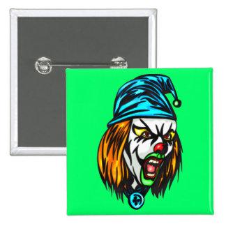Unscrupulous Evil Clown 2 Inch Square Button