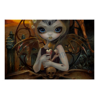 Unseelie Court:  Famine by Jasmine Becket-Griffith Poster