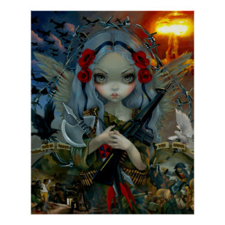 Unseelie Court : War ART PRINT soldier fairy angel