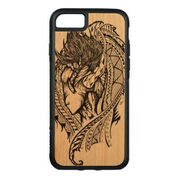 pacificstain Unseen Angel Carved iPhone 7 Case