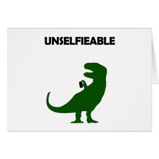 Unselfieable T-Rex Card