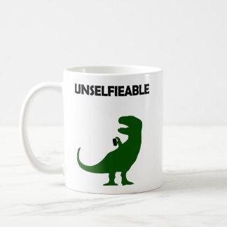 Unselfieable T-Rex Coffee Mug