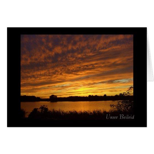 Unser Beileid - Trauerkarte - Sonnenuntergang See Card
