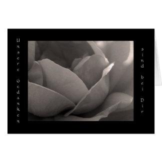Unsere Gedanken sind bei Dir - Grusskarte Rose Greeting Card