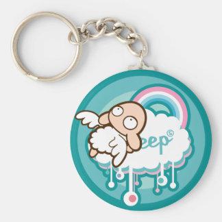 Unsleep Sheep Basic Round Button Keychain