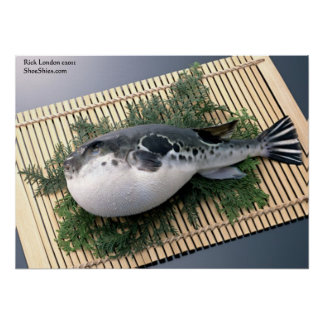 Unsliced Fuju Sushi Posters (Whole Puffer Fish) Poster