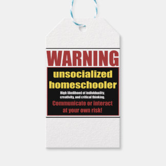 unsocialized homeschoolers gift tags