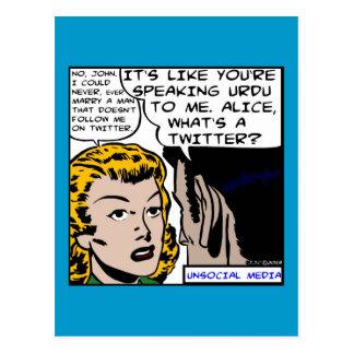 Unsociall Media Poster Postcard