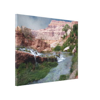 """Unspoiled Waterfall Print on Canvas 30""""x40""""x1.5"""""""