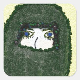 unspoken square sticker
