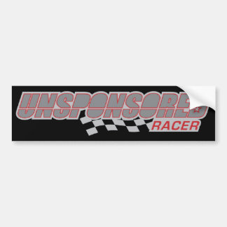 Unsponsored Racer Flag Bumper Sticker