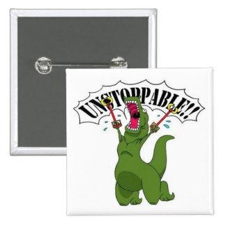 Unstopable T-Rex 2 Inch Square Button