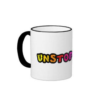 Unstoppable colorful text across the middle/mug ringer coffee mug