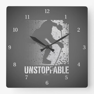 Unstoppable (Hockey) Square Wall Clock