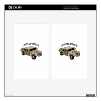 Unstoppable Humvee Decal For Kindle Fire