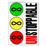 Unstoppable Infinity Stop Sign Greeting Card