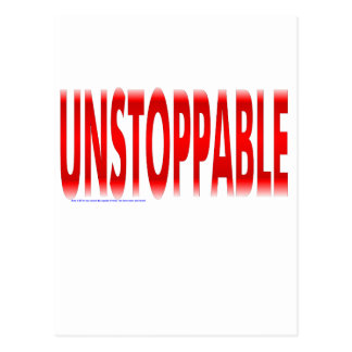 Unstoppable Postcard