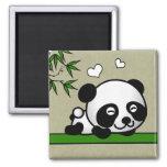 Unsuspecting Panda 2 Inch Square Magnet