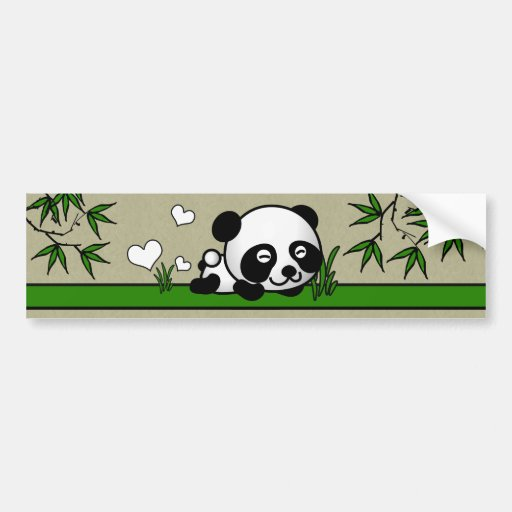 Unsuspecting Panda Car Bumper Sticker