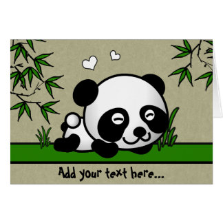 Unsuspecting Panda Card