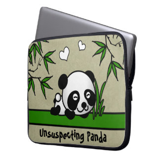 Unsuspecting Panda Computer Sleeve