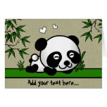 Unsuspecting Panda Greeting Card