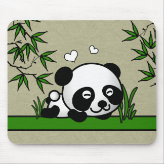 Unsuspecting Panda Mouse Pad