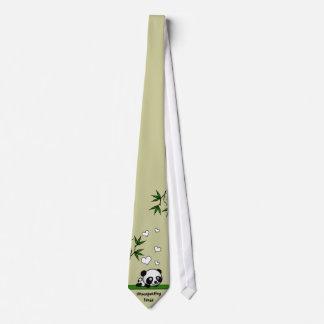 Unsuspecting Panda Neck Tie