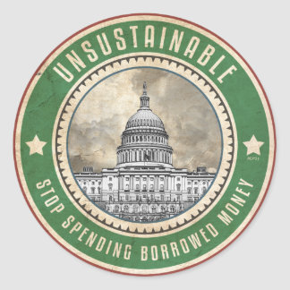 Unsustainable Classic Round Sticker