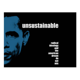 Unsustainable Postcard