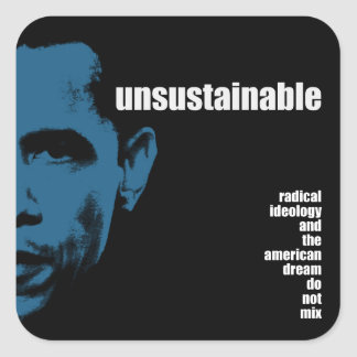 Unsustainable Square Sticker
