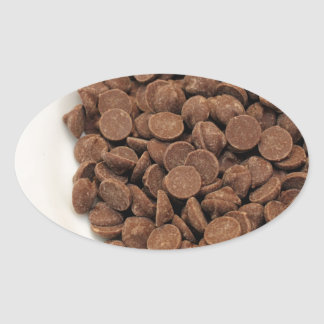 Unsweetened Carob Chips Oval Sticker