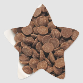 Unsweetened Carob Chips Star Sticker
