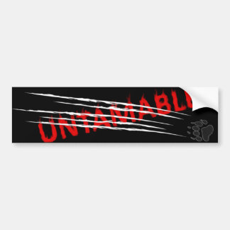 Untamable 2 car bumper sticker