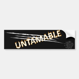 untamable car bumper sticker